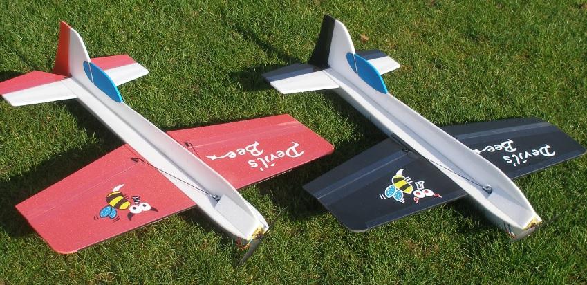 21 cm 2er Set Katapult-Flieger Spannweite ca